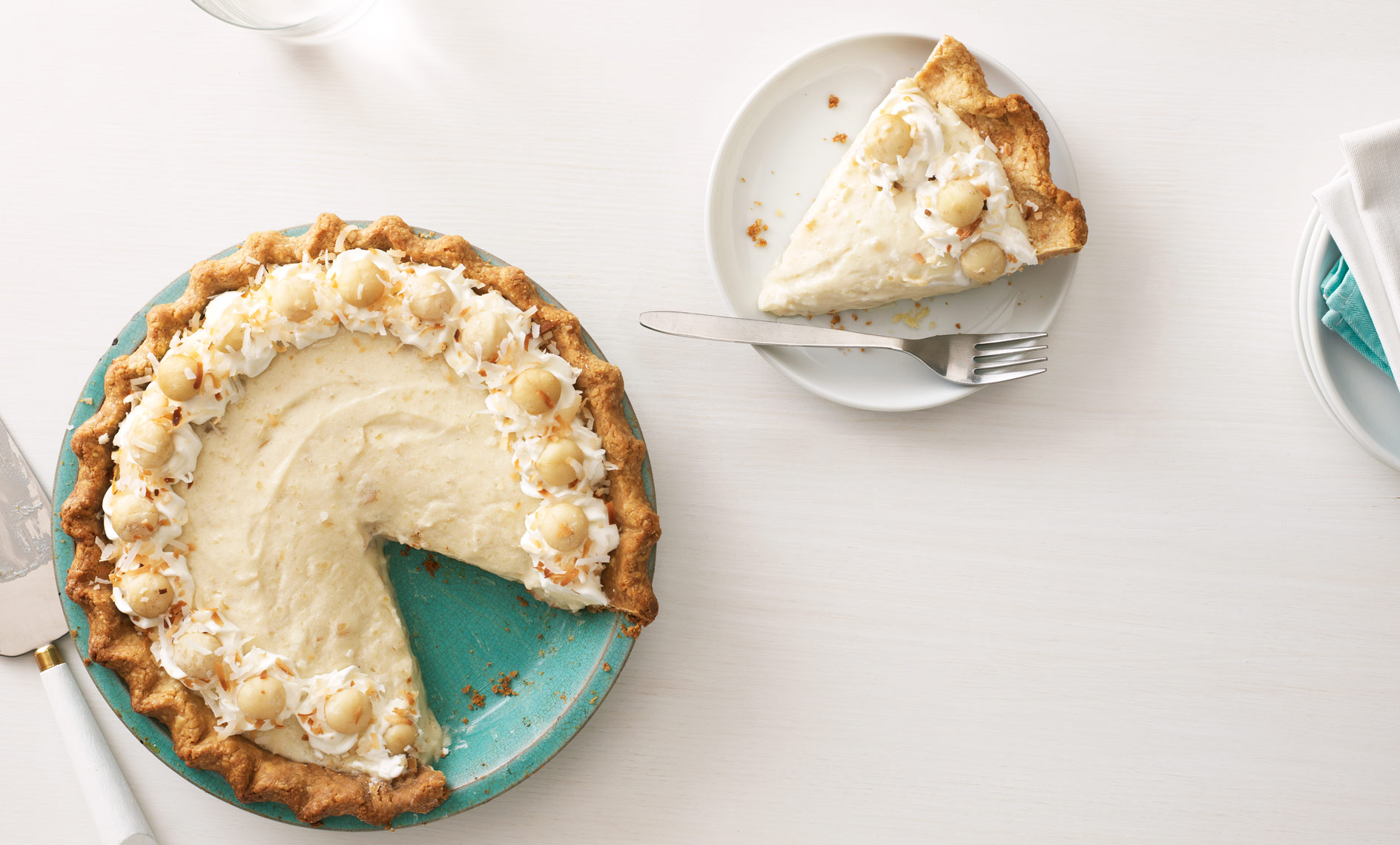Macadamia Cream Pie