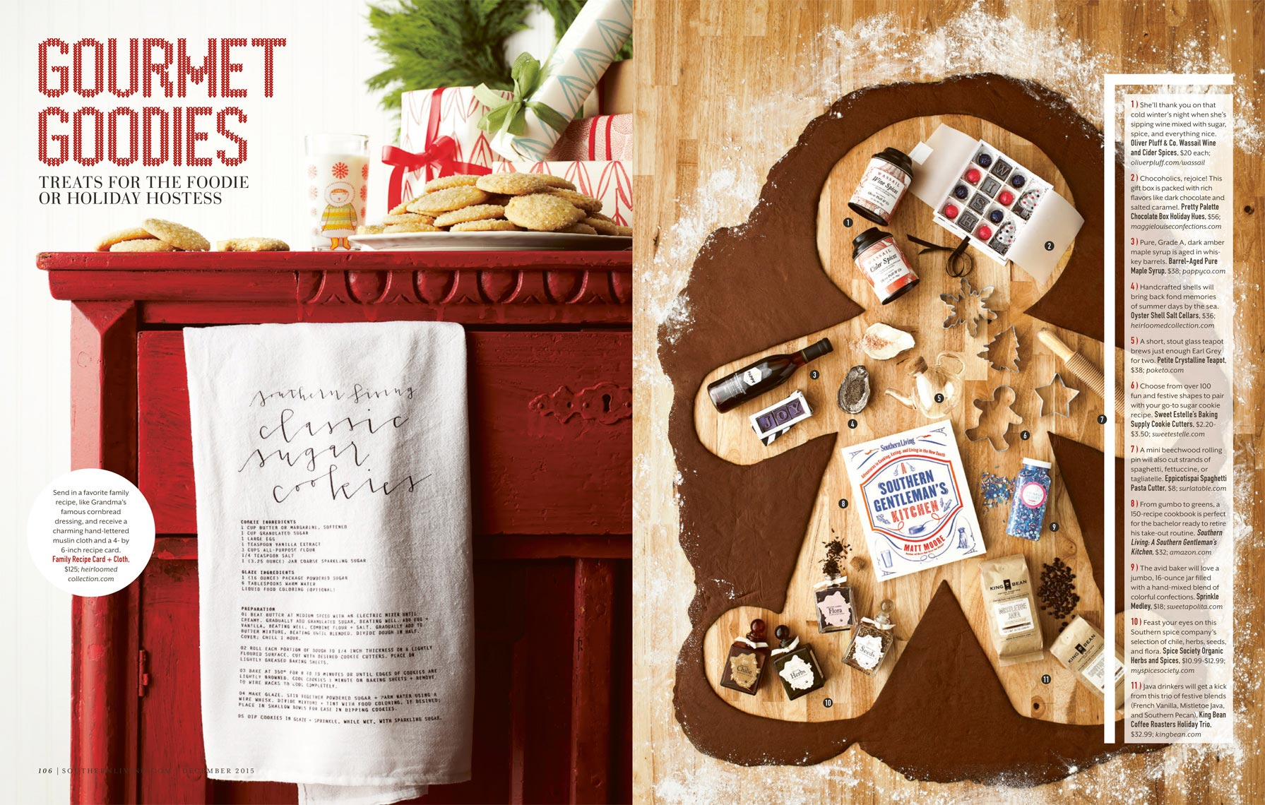 SOUTHERN LIVING XMAS GUIDE 2015