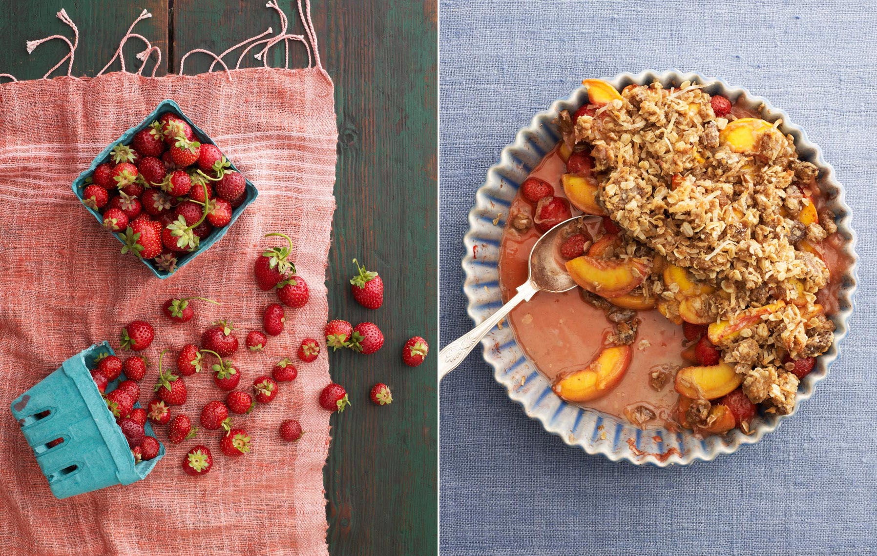 Summer Strawberry Peach Crumble